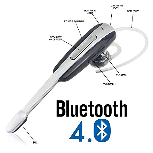 Xiaomi Redmi Note 4 And Other Smartphones Compatible Bluetooth Headset HM-1000 Latest Stylish Ear Buds  Bluetooth Talk With Supports MP3 Player   Portable Device   Handsfree   Mic   Stereo By Liddu Comes In Silver Color