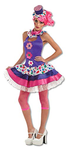 Karneval Kostüm Candy Girl - Horror-Shop Knallbuntes Candy Girl Kostüm für