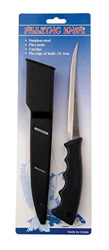 Filier-Angelmesser aus Edelstahl 16cm Klinge inkl. Halfter