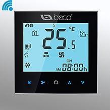 Termostato WIFI, BECA Wifi Control Dos tuberías de calefacción / refrigeración Pantalla táctil LCD digital Semanal programable Fan Coil Aire acondicionado central / HVAC Termostato de la habitación