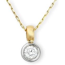 Miore mc001pd 18quilates (750) Amarillo de oro blanco/Jewels–Collar con certificado IGI para Brillant 0,50ct
