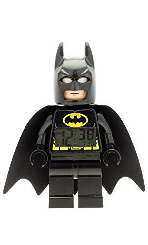 LEGO DC Super Heroes - Reloj despertador con figura Batman, color negro (9005718)