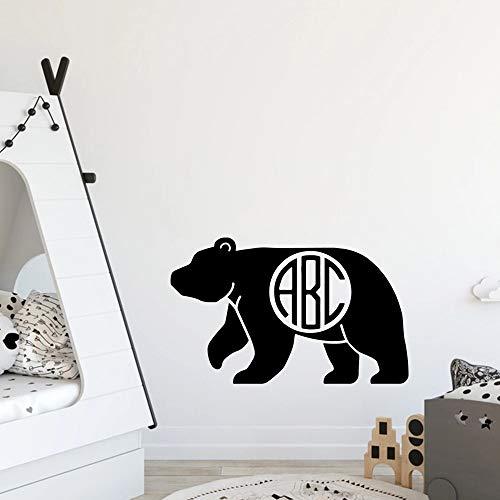 SLQUIET Moderne bär Dekoration Zubehör Für Wohnzimmer Schlafzimmer Wandkunst Aufkleber kaffee 28x27 cm