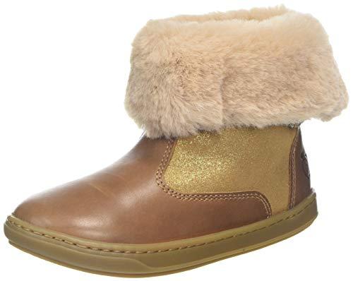 SHOO POM Baby Mädchen Bouba FUR Boots Hausschuhe, Beige (Camel 4Y04CTFREESIA/MASCARACAMEL Gold), 27 EU