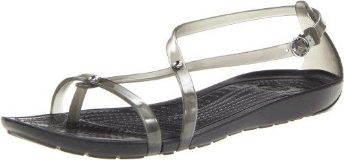 Crocs RealySxiFlpSndl, Damen Zehentrenner Sandalen, Schwarz (Black/Black 060), 41/42 EU