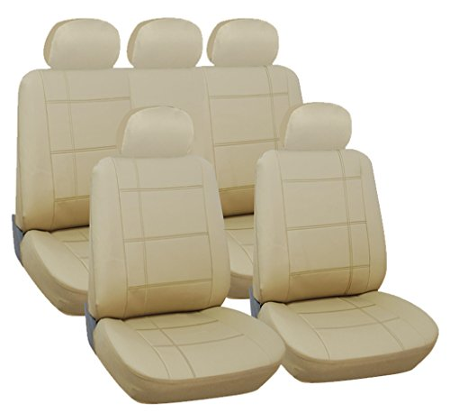 cadillac-sts-full-set-luxury-leather-look-seat-covers-front-rear-beige