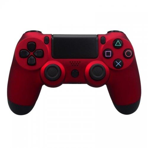 PS4 Oberschale für Dualshock 4 Controller - Soft Touch rot Hunter-faceplates