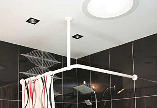 Supporto da soffitto per binario per tenda da doccia lunghezza: 55