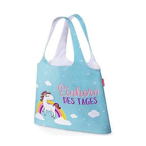 Einkaufs Tasche, Beutel EINHORN DES TAGES blau Tasche für Dich LaVida (Tasche-tag)