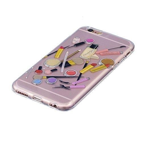 Cover iPhone 6S Plus, Custodia iPhone 6 Plus, CaseLover Custodia per iPhone 6S Plus / iPhone 6 Plus (5.5 Pollici) Ultra Sottile Trasparente Morbida Gomma Gel TPU Silicone Protectiva Corpeture Flessibi Cosmetico