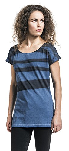R.E.D. by EMP Batik Sprayed Shirt Girl-Shirt blau Blau