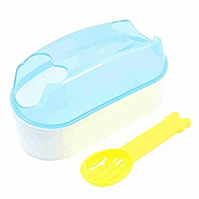 Move&Moving(TM) Dual Hole Pet Sand Cage Bathing Bathtub Hamsters Bathroom Blue White