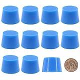 DealMux 10 pezzi grande blu 1 3/16'× 1 7/16' kit di spine coniche in gomma siliconica per temp