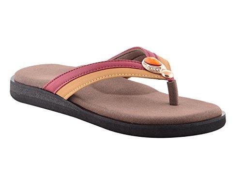 DIA ONE Orthopedic Sandal Rubber Sole MCP Insole Diabetic Footwear for Women (L-Cozy Diamond Sticker Dia_72 Size 6-25 cm)