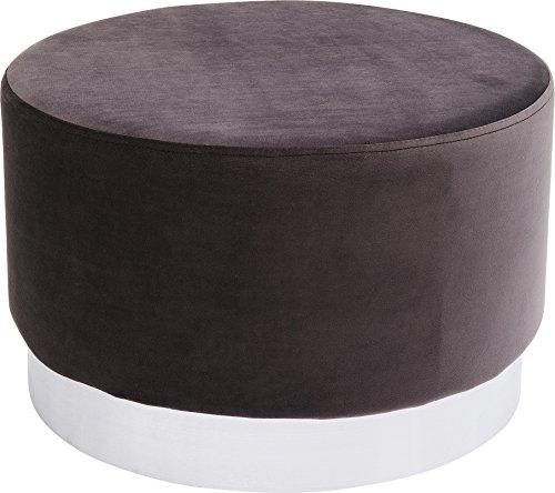 Kare Design Polsterhocker Cherry Brass, kleiner, moderner Design Hocker mit Samtbezug, rund,...