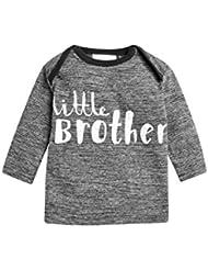 next Bebé Niño Camiseta De Algodón Cuello Redondo Manga Larga Little Brother (0 Meses-2 Años)