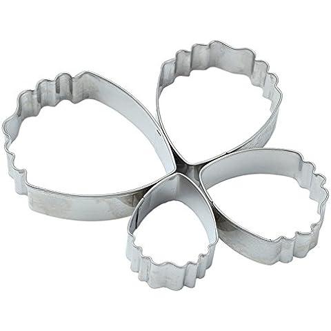 4x Cortador Forma de Peonía para Decoración Galletas Pastel Tartar Fondant Pasteles Molde