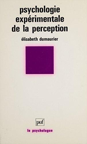 Psychologie expérimentale de la perception