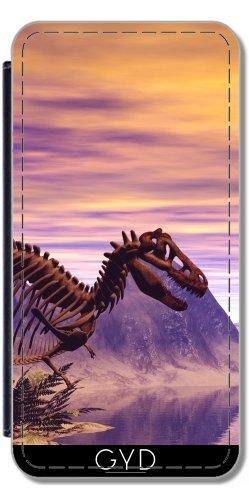 Leder Flip Case Tasche Hülle für Huawei P9 Lite - Dinosaurier-Skelett by nicky2342