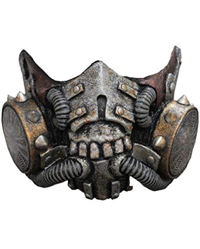 Horror-Shop Doomsday Latex Gasmaske SciFi Halbmaske (Horror Krieger Kostüm)