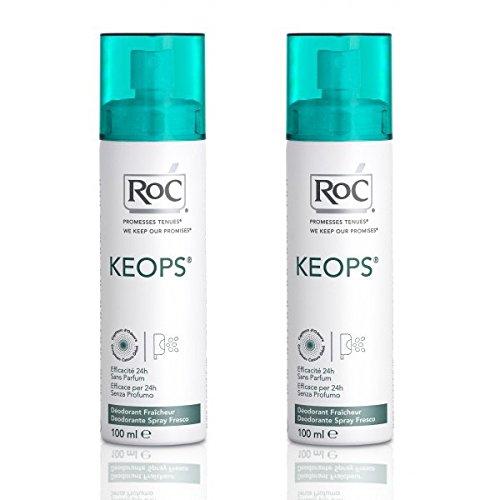 Roc Keops Desodorante mantener Spray-Lote 2sudor