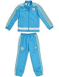 Adidas OM Pres Suit Y - Sweat-shirt pour enfant, Bleu/blanc