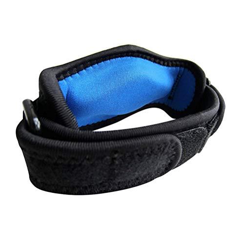 Preisvergleich Produktbild LIOOBO 2 STÜCK Sport Ellenbogen Unterstützung Schwamm Ellbogenschützer mit Doppelschnalle Einstellbar Ellenbogenschutz für Sport Basketball Badminton Tennis (Blau)