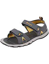 45f8e2676d6caf Fsports Mens Grey and Yellow Colour Arrow Series Synthetic Casual Sandal