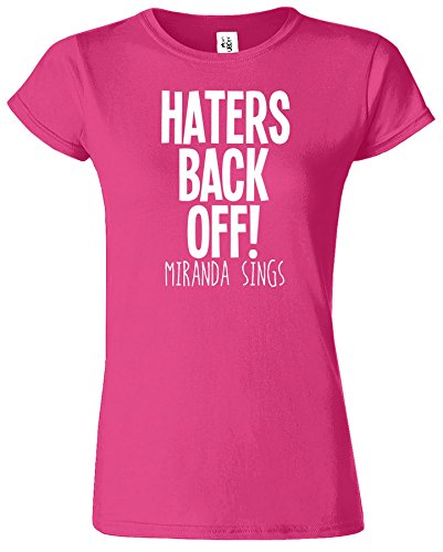 Haters Back Off Mirnada Sings Dames T Top T-Shirt Cadeau Antique Heliconia / Blanc Design