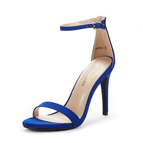 DREAM PAIRS Karrie Sandalias de Tacón Alto Aguja para Mujer Azul Real 38.5 EU/7.5 US