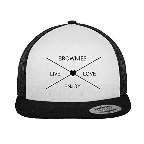JOllify BROWNIES Trucker Cap Kappe Mütze – Design: Hipper Hipster