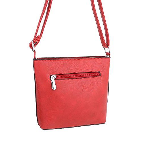 Taschen Umhängetasche Used Optik Modell Nr.1 Rot