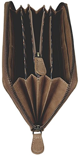 Brown Bear Geldbeutel Frauen Leder Reißverschluss Conny