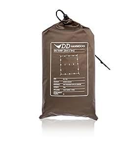 DD Tarp 3m x 3m - Coyote Brown - Versatile, Lightweight Army Basha / Tarp