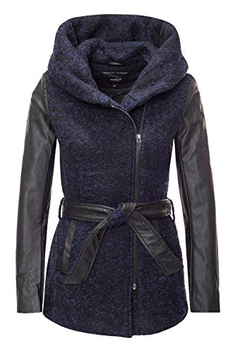 ONLY Damen Wollmantel Kurzmantel Winterjacke Wintermantel (36 (Herstellergröße: S), Night Sky/Melange)