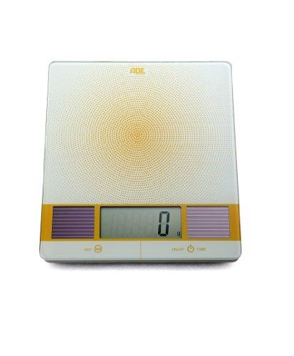ADE Solar-Küchenwaage Helia in weiß-gelb