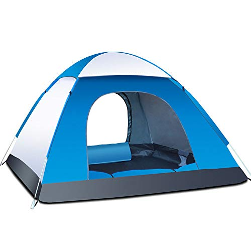 Kuppelzelte LIUSIYU 3 Personenzelt 4 Season Wasserdicht Winddicht Ultralight Camping 2 Sekunden Geschwindigkeit offen automatisch Outdoor Himmelfenster,Blue+Gray