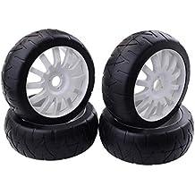 FLAMEER RC Neumáticos de Rueda Recambio de Accesorios para 1:8 RC Coche Buggy Rock