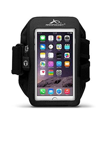 Armpocket® Ultra i-35 Armband für iPhone 6, Samsung Galaxy S5, Galaxy Note 2/3 oder vergleichbar große Telefone bis 152mm Höhe (L (Armumfang 33-46cm), Black)