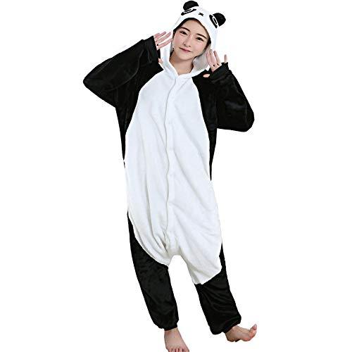 DUKUNKUN Erwachsene Pyjamas Pyjamas Kostüm Flanell Schwarz Cosplay Für Tier Nachtwäsche Cartoon Halloween Festival/Urlaub/Weihnachten,XL