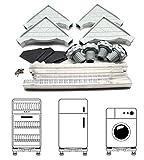 YIYIBY Waschmaschine Sockel Einstellbare Untergestell Kühlschrank Podest Stabiles für Trockner, Waschmaschine und Kühlschrank, Es ist ein Teleskop-Tisch