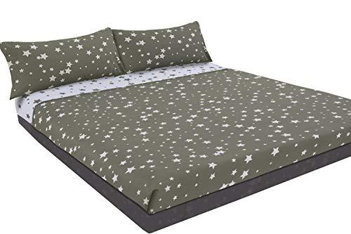 Juego de sábanas estampado Estrellas (STARS, para cama de 90x190/200)