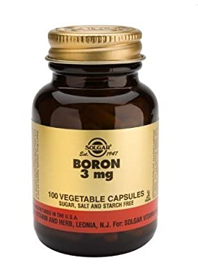 Solgar-Boron 3mg: 100 Vegetable Capsules from Solgar Vitamins and Herbs