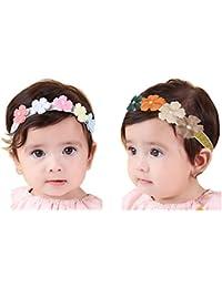 JMITHA Bébé Fille Bandeau Cheveux Elasticité Bandeaux bandeau bébé fille  Turban Bandeaux élastique serre-tête e9131634ea7