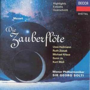 Mozart: Die Zauberflote - Highlights (Wiener Philharmoniker / Sol