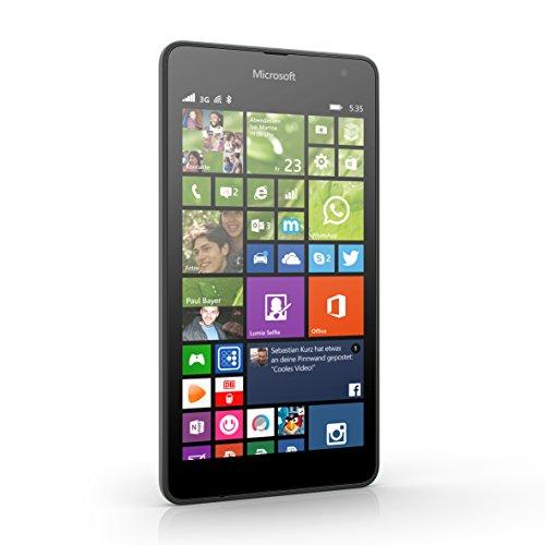Microsoft Lumia 535 - Smartphone libre  pantalla 5   c  mara 5 Mp  8 GB  1 2 GHz  1 GB RAM  Windows   negro