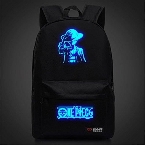 6033d9199a37 Siawasey Anime One Piece Cosplay lumineux sacoche pour ordinateur portable  pour sac à dos Sac d'école 4