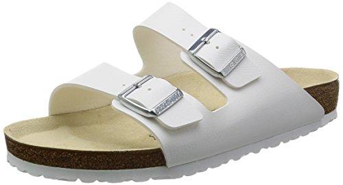 Birkenstock arizona, sandali unisex adulto, bianco (weiss), 38