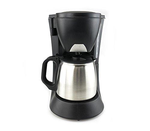 Platzsparende Filterkaffeemaschine – Kaffeekanne aus rostfreiem Stahl mit Volumen von 600 ml – 600 W - mit der Autoausschaltfunktion 5 Tasse-kaffeemaschine Rot