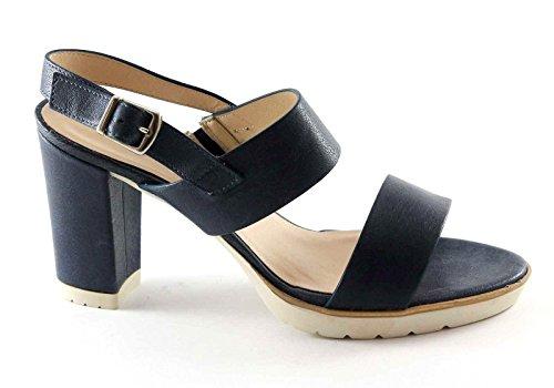 MELLUSO S764B bu oltremare scarpe donna sandalo tacco cinturino fasce Blu